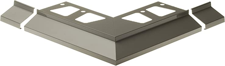 Cezar W - Al Okap 100Z 106 0218 + 天井轮廓连接器(全套),浅灰色,2 只装