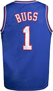 Youth Basketball Jersey Bugs #1 Moive Space Jam Jersey Boys Sport Shirts