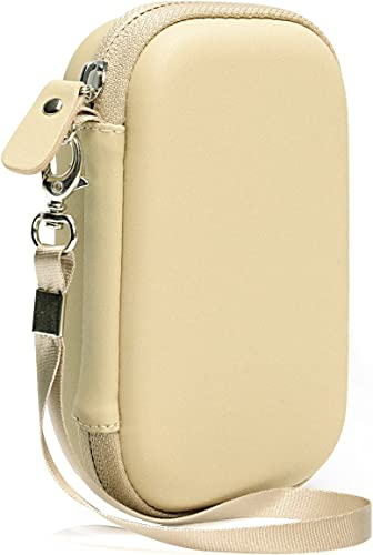 popular Matte Gold Shockproof Travel Easy Carrying Case for HP Sprocket Portable Photo Printer outlet online sale and Polaroid Zip Mobile wholesale Printer, Mesh Pocket for Cable, Printing Paper and Other Accessories online sale