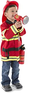 Melissa & Doug 4834 Fire Chief Role Play Costume Dress-Up Set, 6 pcs