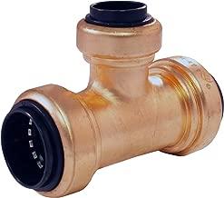 Apollo Copper Push ACPT343412 3/4-inch x 3/4-inch x 1/2-inch Copper Push Reducer Tee