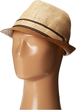 Tommy Bahama - Raffia Fedora with Brown Brim