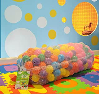 EnviUs Cushy Pit Balls - Royals : 6.5 cm Phthalates Free and Crush Proof : 7 Colors: Red, Orange, Yellow, Green, Purple, Blue, Pink