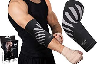 Physix Gear Elbow Brace for Tendonitis - Best Compression Arm Sleeve, Tennis Elbow Brace & Elbow Compression Sleeve for Elbow Support, Tennis Elbow Treatment Arm Brace & Elbow Sleeve Weightlifting