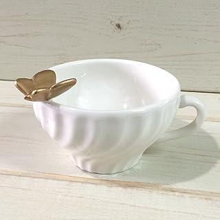 小物入れ トレー ジュエリー トレイ ティーカップ 小物トレイ 陶器 10146