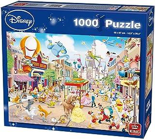 Disney K175086 1000 Pcs Jigsaw Disneyland-68 x 49 cm Puzzle, Multicoloured