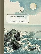Graph Paper Composition Notebook: Journal Book (Large) - Ocean Waves - Japanese Art