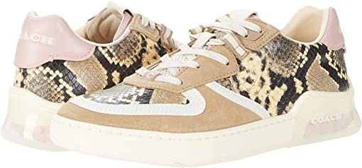 COACH CitySole Printed Court,Beechwood/Aurora Leather