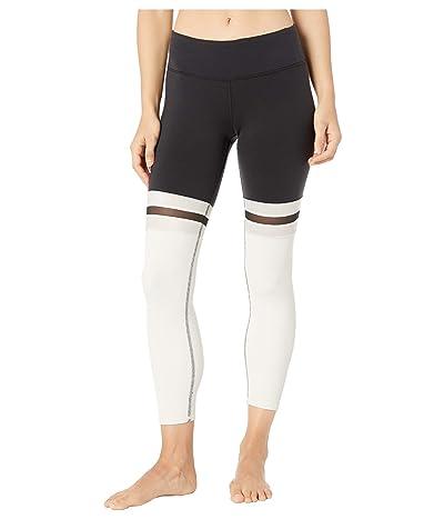 ALO 7/8 Player Leggings (Black/Bone) Women