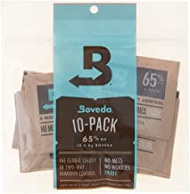 Boveda 65% RH 8 Gram, patented 2-Way Humidity Control, (1) 10-Pack, Unwrapped Boveda, Resealable Bag; Up to 10 cigars; perfect for Cubans, cigars with oilier wrappers like Opus X or a broadleaf Maduro