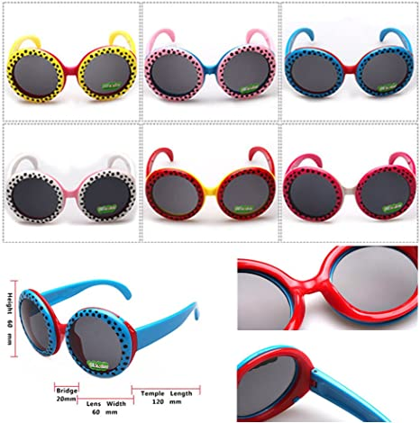 FancyG Cool Kids Fashion Big Eyes Style Sunglasses Frame Toy Glasses Eyewear