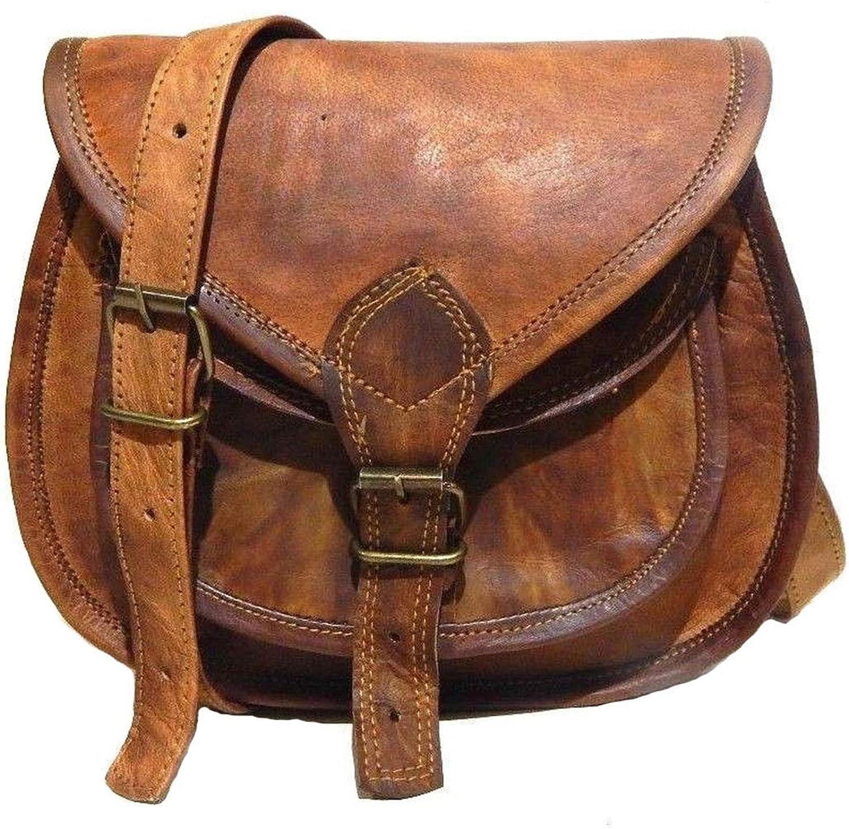 Madosh, New Genuine Leather Women's Bag Vintage Shoulder Sling Crossbody Bag Purse Brown