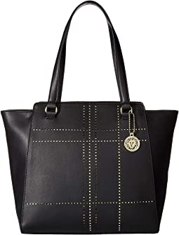 Plaid Perf Winged Tote