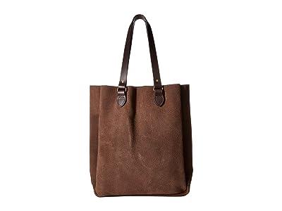Filson Rugged Suede Tote (Dark Tobacco) Tote Handbags