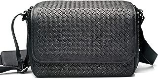 Vi Vante Targa Designer Hand Woven Leather Camera Bag Black with Inner Removable Bag 2 Camera Bags in one!