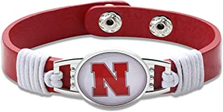 Stanford Cardinal Leather Bracelet with Snap Closure 7 to 9