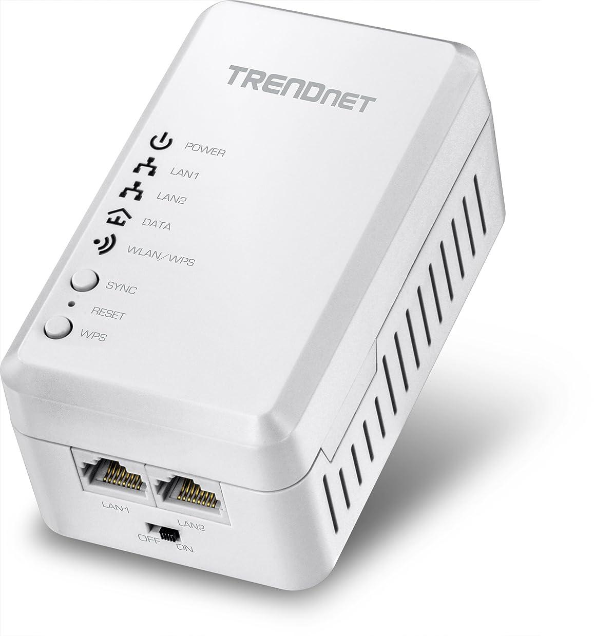 TRENDnet TPL-410AP - Bridge - HomePlug AV (HPAV) - 802.11b/g/n - 2.4 GHz - wall-pluggable