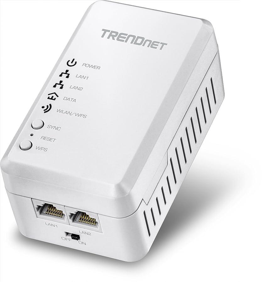 プログレッシブグローバルオフェンスTRENDnet TPL-410AP - Bridge - HomePlug AV (HPAV) - 802.11b/g/n - 2.4 GHz - wall-pluggable