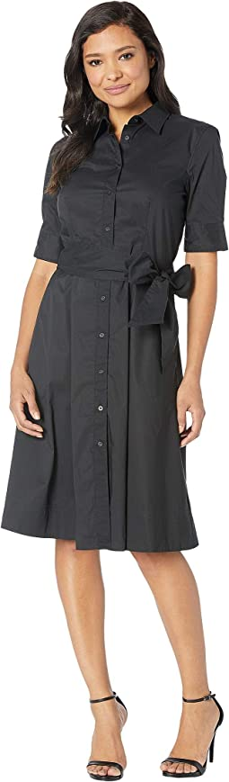 Cotton-Blend Shirtdress