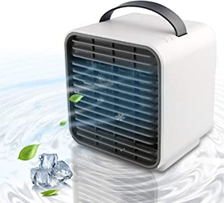 Personal Space Cooler Portable Air Conditioner Cooling Fan Negative Ion Desktop Bedroom Fan Artic Air Personal Air Cooler Fan Purifier Quiet Air Circulator Office Home Bedroom Fan with Light