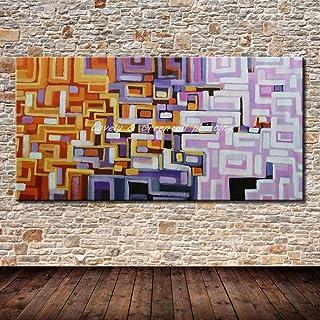 ZHUAIBA Peint à la Main Posters Décoratifs Mur Art Toile Peinture À l'huile Moderne Abstrait Couleur Bar Peintures Mur Pho...