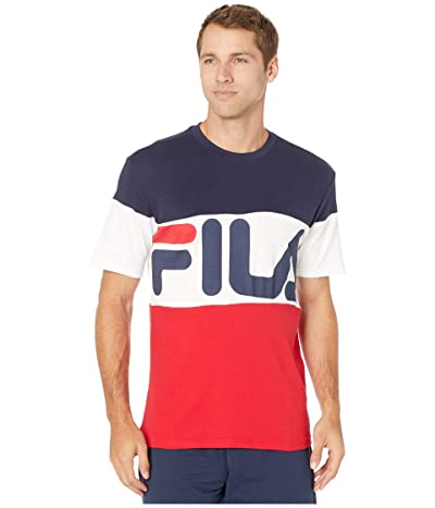 Fila Vialli T-Shirt (Peacoat/Chinese Red/White) Men