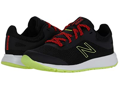 New Balance Kids 455v2 (Little Kid/Big Kid) (Black/Neo Flame) Boys Shoes