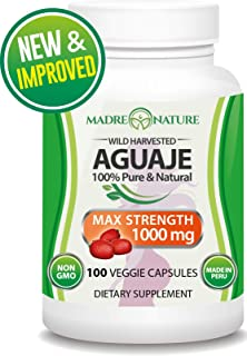 Aguaje Fruit Supplement 500mg x 100 Vegan Capsules - The Magical Fruit for Women - Curve Enhancer - Hormone Balancer - Fresh Harvest from Peru … (1-Pack)