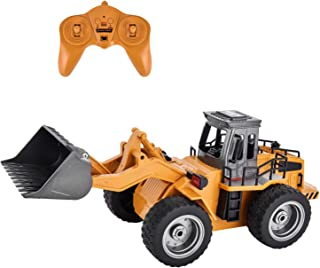 Rainbrace Remote Control Construction Toys RC Construction Vehicles RC Bulldozers Remote Control Tractor RC Front Loader RC Truck for Kids Remote Control Truck for Boys Toys 4 16 Years Old Boys Girls