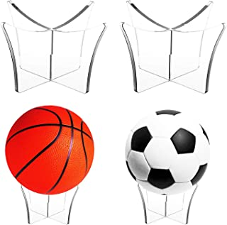 Ball Football Basketball Volleyball Stand,2 Pack Cozysmart Scoccer Ball Rugby Ball Display Stand and Holder(Ball not Inclu...