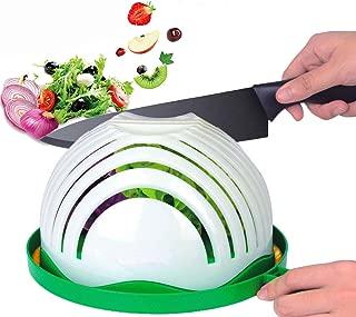 Salad Cutter Bowl, Upgraded Salad Maker Family Size Fast Vegetable Cutter Bowl, Salad Slicer Salad Chopper Strainer Cutting Board 4 in 1 Durable FDA-Approved for Kitchen