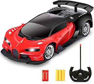 Remote Control Car - 1/16 Scale Electric Remote Toy Racing, with Led Lights High Speed RC Toy Car for Kid 3 4 5 6 7 8 9 Ye...