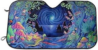 New and Upgraded Version Psychedelic Trippy Art Parasol De Protecci¨n Solar para Parabrisas Del Auto, Ajuste Universal Mant¨¦n Tu Veh¨ªculo Fresco. Reflector De Calor UV 70X130cm
