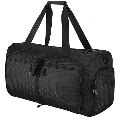 Sports Gym Bag, OMorc 60L Large Foldable Travel Duffles Bag with Removable  Shoulder Strap, 0d35d0dc89