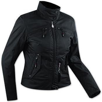 Lady Giacca Moto Donna Impermeabile Termica Sfoderabile Protezioni CE Nero L