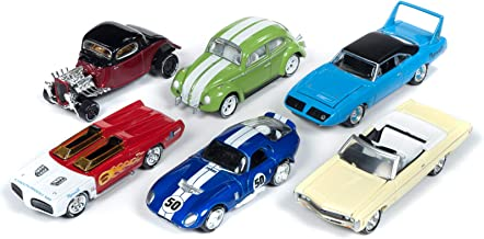 Classic Gold 2019 Release 1, Set A of 6 Cars Johnny Lightning 50th Anniversary 1/64 Diecast Models by Johnny Lightning JLCG018 A
