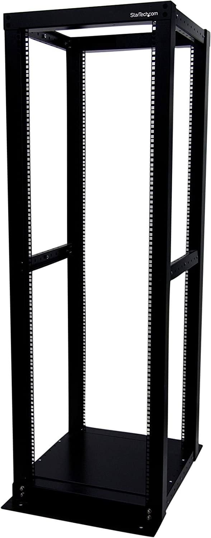 StarTech.com 36U Heavy Duty Open Frame Server Rack - 1000lbs Weight Capacity - 4 Post Adjustable Depth (18.3