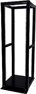 "StarTech.com 36U Heavy Duty Open Frame Server Rack - 1000lbs - 4 Post Adjustable Depth (18.3"" to 39.2"") Network Equipment Rack w/ Casters (4POSTRACK36)"