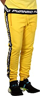 Black Pyramid Speed Stripe Logo Joggers Yellow