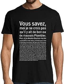 Mondes meilleur plombier drôle présents de Noel idées Cadeau D/'Anniversaire Garçons Filles T Shirt