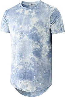 Sponsored Ad - KLIEGOU Men's Hip hop Tie Dye Short Sleeve T-Shirt