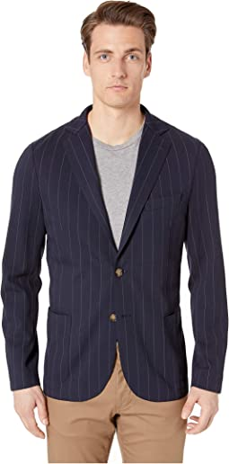 Chalk Stripe Laser Cut Blazer
