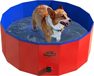 Pet Pool and Bathing Tub-Foldable with Carrying Bag Included, Travel Friendly Tub for
