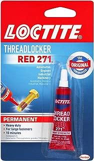 Loctite  Heavy Duty Threadlocker, 0.2 oz, Red 271, 12 Pack