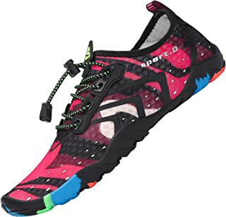 SAGUARO Chaussure Aquatique Homme Femme Chaussures d'eau Léger Respirant Chaussons de Sport Piscine,GR.35-48 EU