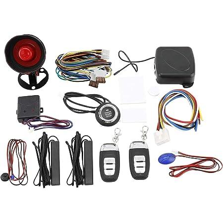 Yaegarden Car Alarm System, Auto Door Remote Central Control System, Car Alarm Security System, Car Remote Control System, One Way with Remote Start and Smart Push Start Button