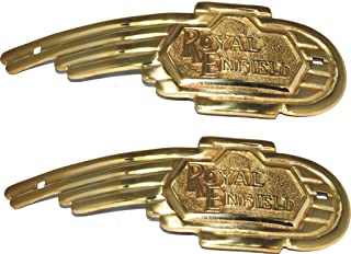 RS Vintage Parts RSV-B017BENG6C-01366 Motorcycle Parts A46 Royal Enfield Brass Petrol Tank Decal And Badges