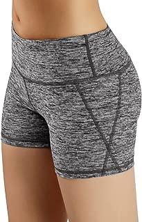 Power Flex Yoga Short Tummy Control Workout Running Athletic Non See-Through Yoga Shorts with Hidden Pocket
