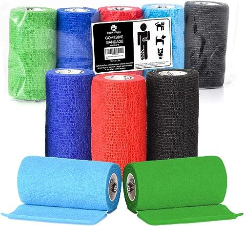 Self Adhering 10 Colours Vet wrap Bandaging Tape HyHEALTH SPORTWRAP