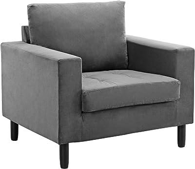 Strange Amazon Com Round Swivel Accent Lounge Chair With Tufted Machost Co Dining Chair Design Ideas Machostcouk